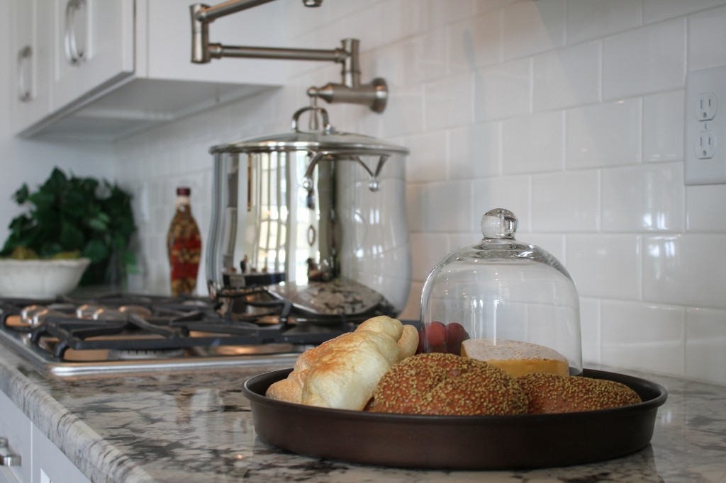 fake food in model home staging